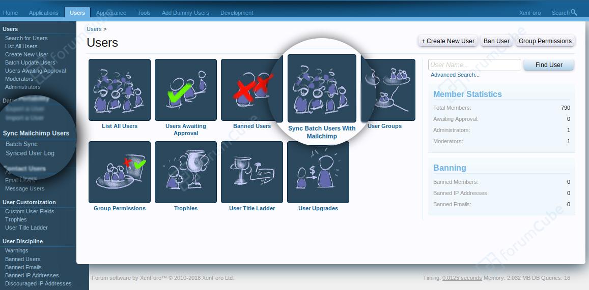 XenForo Addons | Mailchimp Forum | ForumCube